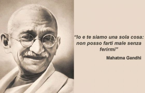 Mahatma Gandhi la grande anima della non violenza