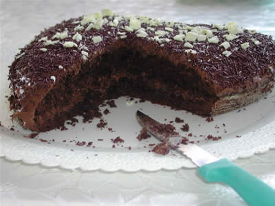 Interno torta nutellotta