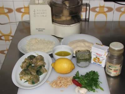 Ingredienti per penne ai carciofi e pesto genovese