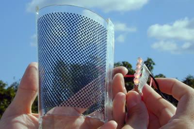 Sphelar micro celle  fotovoltaiche da finestra