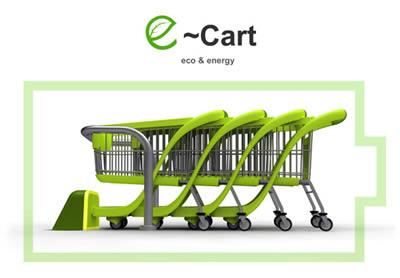 E-Cart carrello che produce energia elettrica