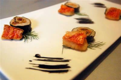 Sushi  di triglia impiattato