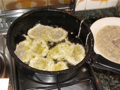 Cottura frittelle di bianchetti