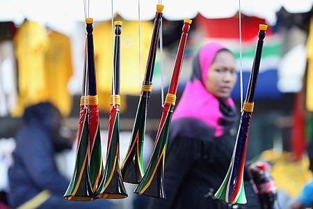 Vuvuzelas su un banchetto ambulante