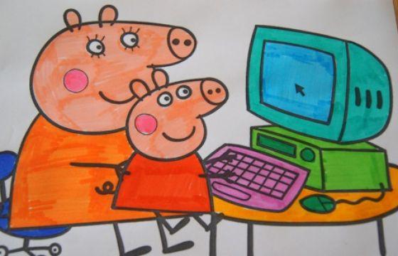 Disegni di peppa pig da scaricare e colorare for Maschere di peppa pig da colorare