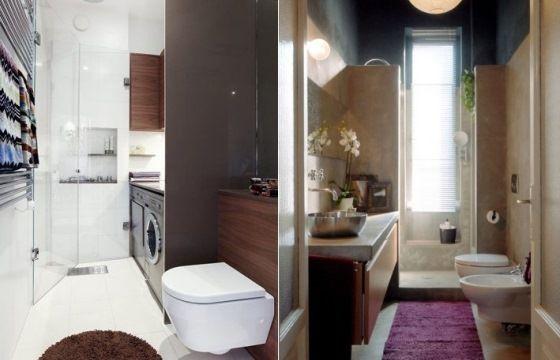 Come arredare il bagno piccolo e stretto consigli utili - Arredare il bagno spendendo poco ...