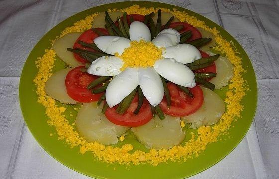 Insalata di patate con uova pomodori e fagiolini for Ricette di cucina particolari