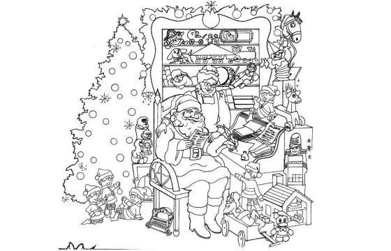 Disegni Paesaggi Di Natale.Immagini Di Natale Da Colorare Da Scaricare Gratis