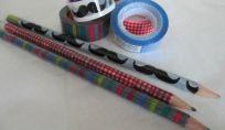Matite decorate con washi tape