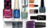 Smalti metallizzati per unghie con effetto glamour