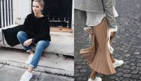 Look con sneakers bianche