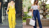 Tendenza moda pantaloni paper bag