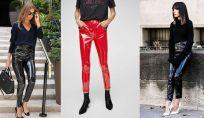 Pantaloni lucidi in vinile 2019