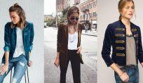 Look con giacca di velluto