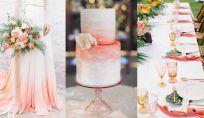 Il living coral è il colore per un matrimonio di tendenza del 2019