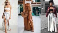 Pantaloni spacchi davanti estate 2019