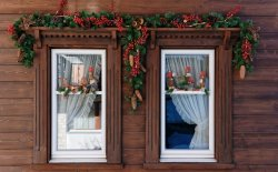Addobbi natalizi per finestre, per una casa natalizia a 360°