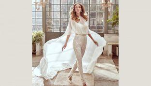 Tra i nuovi trend bridal 2017: gli abiti da sposa con pantaloni