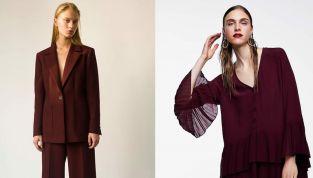 Il bordeaux è uno dei colori più cool dell'autunno inverno 2018 2019