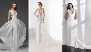 Scollature profonde: gli abiti da sposa 2019 più audaci e femminili