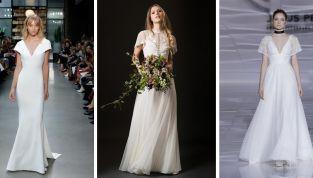Abiti da sposa con maniche corte 2019: la tendenza casual chic