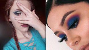 Tendenze trucco p/e 2019: occhi blu