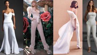 Tute da sposa 2020: tutta l'eleganza dei pantaloni
