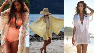 Caftani e kimoni, i copricostumi dell'estate 2020