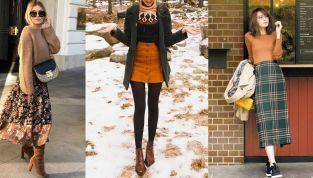 Gonne contro il freddo invernale: i modelli per gambe calde