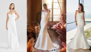Abiti da sposa minimali 2021: il trionfo della semplicità