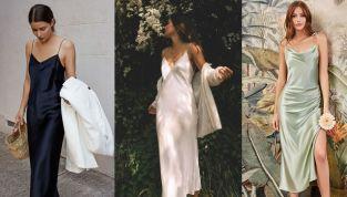 Slip dress estate 2021: lo stile lingerie è di moda