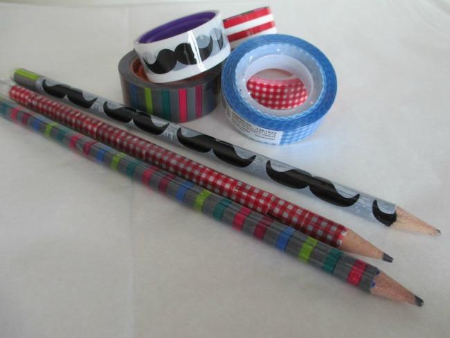 Matite decorate con washi tape per un rientro a scuola super colorato!