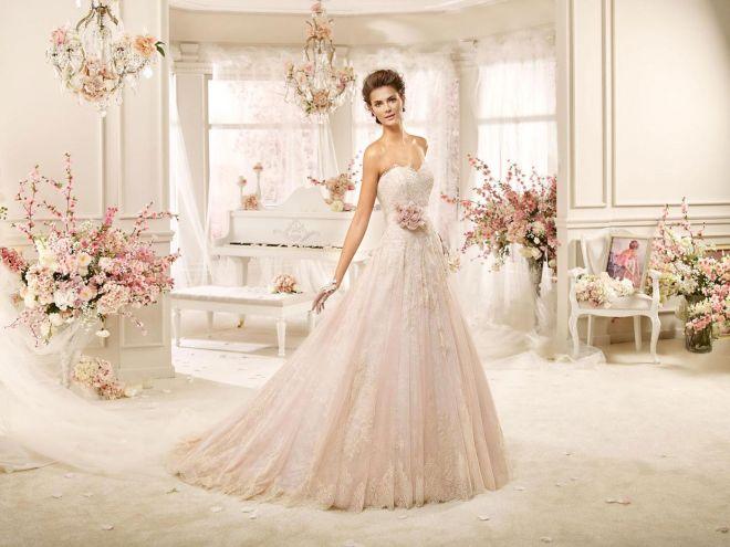 0e910b1770b6 Abiti da sposa rosa  la nuova tendenza 2016