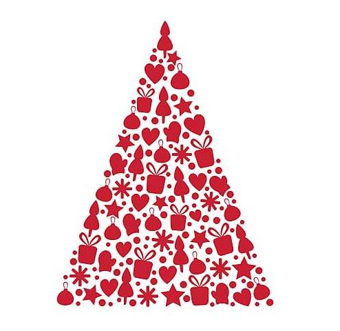 Casa e tavola in rosso per il natale for Stickers dalani