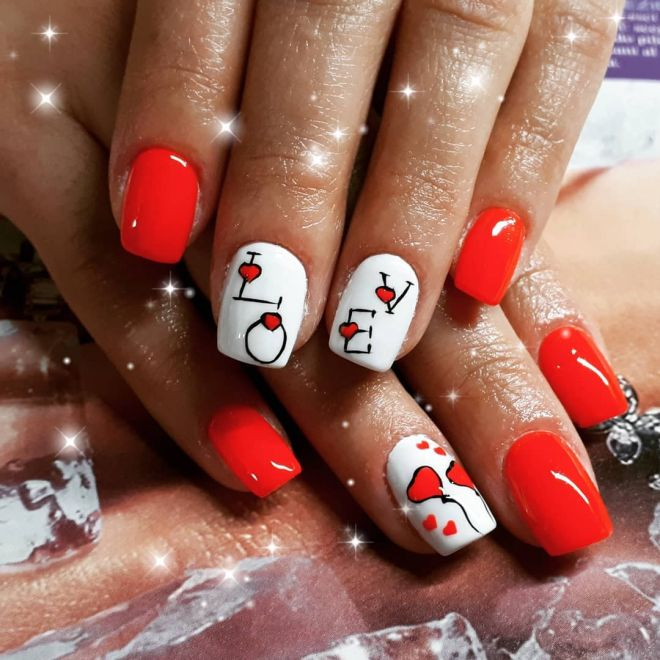 LOVE red and white