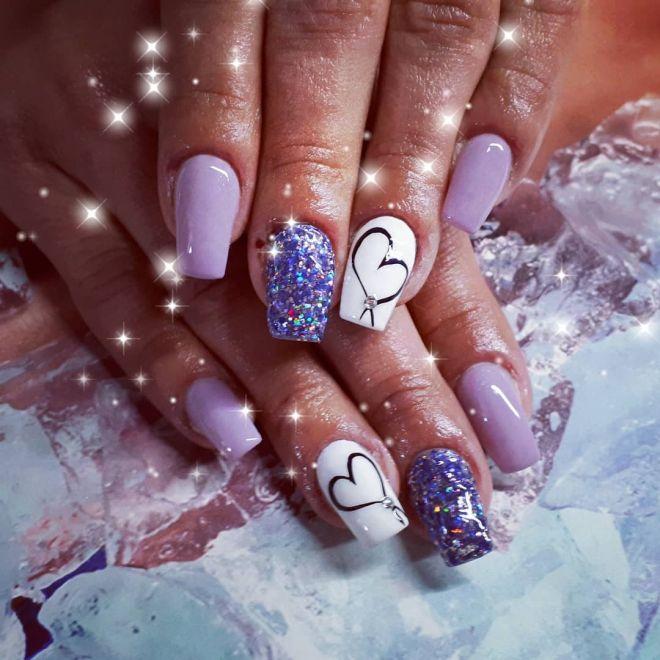 Glitter lilla
