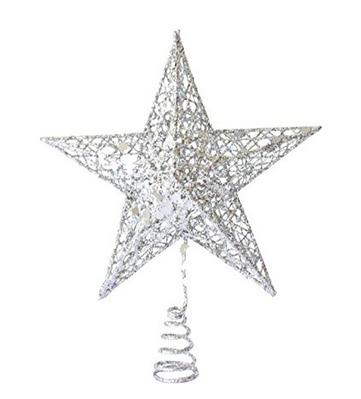 Color argento per le decorazioni dell 39 albero natalizio - Stern weihnachtsbaumspitze ...