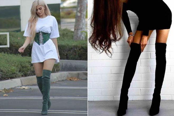 Stivali calza: la tendenza moda delle star