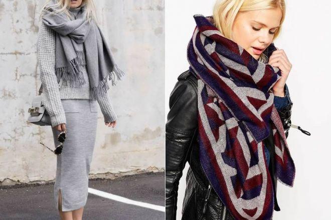 Maxi sciarpe per combattere il freddo con stile