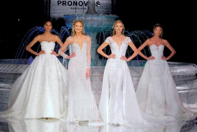 Barcelona Bridal week: le tendenze degli abiti da sposa 2018