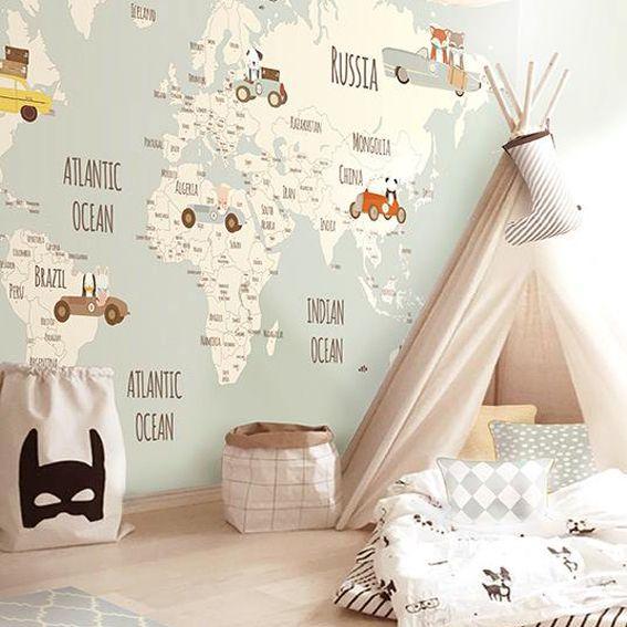 Come scegliere le carte da parati moderne for Kids room wallpaper texture