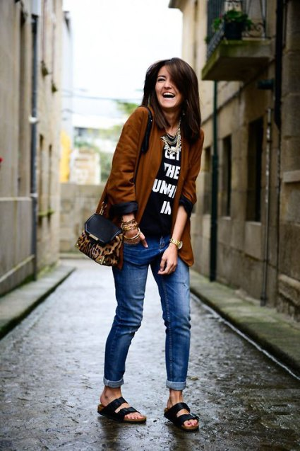 Jeans e sandali