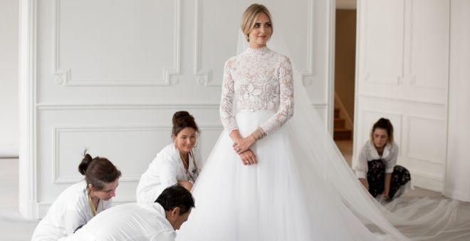 665d05f81e L'abito da sposa di Chiara Ferragni: non un unico stile per la fashion