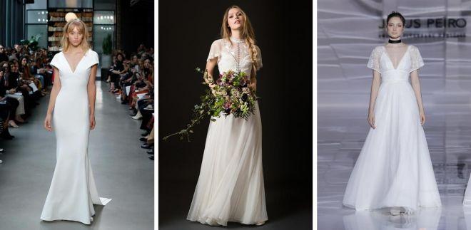 watch efc01 2b376 Vestiti da sposa con maniche corte 2019