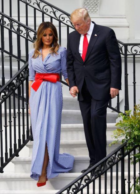 Melania Trump look vichy