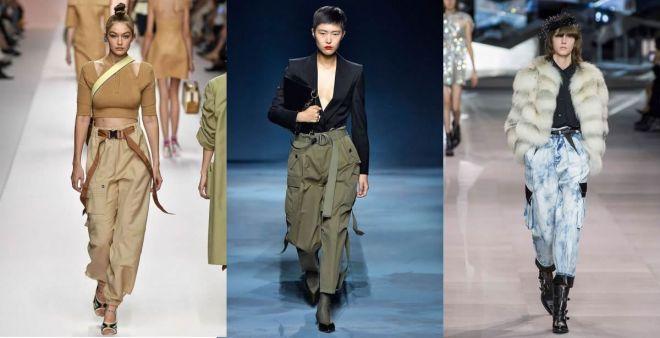 Pantaloni con tasconi: la moda cargo della primavera 2019