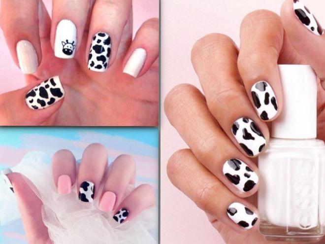 Cow nail art: tendenza animalier per la primavera-estate