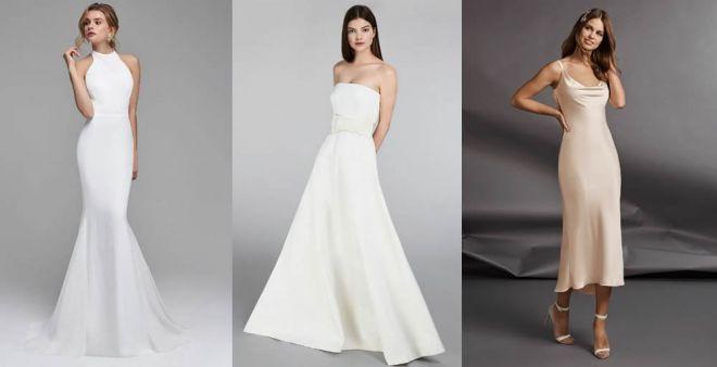 design di qualità e4e9e 8bae6 Vestiti da sposa semplici 2019
