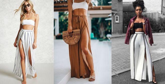 Slit pants: i pantaloni con spacco frontale da avere questa estate