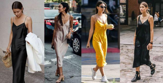 Slip dress: gli abiti sottoveste ispirati alla lingerie